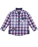 The Essential One - Boys Kids Long-Sleeved Check Shirt - Maxie Monkey - 3-4 Yrs - Blue/Red/White - EOT223