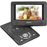 """ieGeek Tragbarer DVD-Player, 12.5"""" Körper, 9"""" Bildschirm, Drehbarem Display schwenkbarem, Unterstützt DVD,USB und SD Karte, Schwarz"""