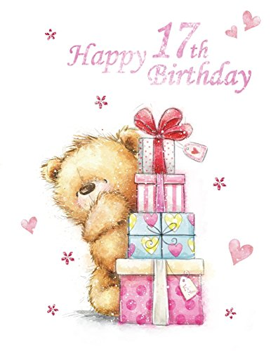 Happy 17th Birthday Notebook Journal Dairy 185 Lined Pages Cute Teddy