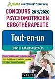 Concours 2019/2020 Psychomotricien Ergothérapeute - Tout-en-un - Cours et annales corrigées...