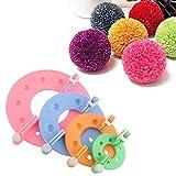 Lot de 8accessoires Gemini_mall® de 4tailles différentes pour faire des pompons - Outils de fabrication manuelle de pompons - Pour adultes et enfants couleur aléatoire