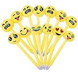 24pz Penne Emoji Penna a Sfera Bambini Divertenti Carine Colorati per Gadget Regalo Compleanno Bomboniere Battesimo Comunione Natale Scuola (stile6-24pz)