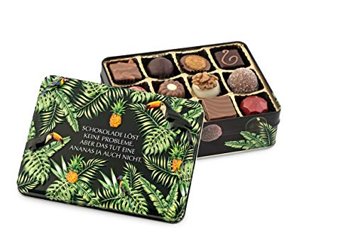 """Preisvergleich Produktbild Präsentdose""""Schokolade löst keine Probleme,  aber das tut eine Ananas ja auch nicht"""" 150g"""