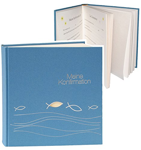 Unbekannt Fotoalbum / Konfirmationsalbum -  Meine Konfirmation  - Gebunden zum Einkleben - für bis zu 180 Bilder - blanko - Fotobuch / Photoalbum / Album - für Mädche..
