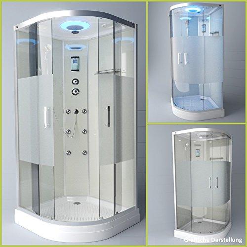Tronitechnik Duschtempel Duschkabine Dusche Glasdusche Eckdusche Komplettdusche S100XH2HG02 100x100