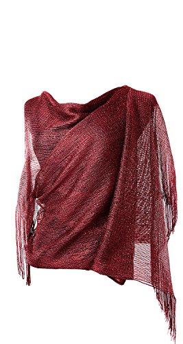 Damen Glitzerschal für Kleider Abendkleider Stola mit Fransensaum in Verschiedenen Farben by DiaryLook