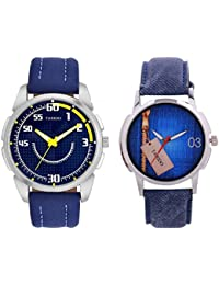 Tarido Blue Dial Analog Wrist Combo Watch For Men/Boys