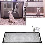 Wokee Schutznetz,Magischer Tor-tragbarer,Sonnenschutz,faltender Sicherheitsschutz für Haustier-Hundekatze lokalisierte Gaze,mit Schutznetz für Nager und Kleintiere