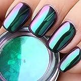 USHION Nagel Pulver Chrome Pigmente Mirror Powder Chamäleon Farbewechseln Multichrome Nägel