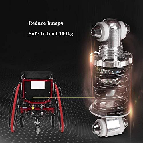 FKYUYU Hinterrad Schnelle Demontage Selbstfahrender Rollstuhl Sportrollstuhl Faltbarer Transportrollstuhl Ohne Armlehnen Geeignet Für ältere Menschen Erwachsene