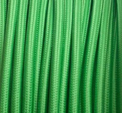 Textilkabel, Stoffkabel, Lampen Kabel Strom, 3-adrig, 3x0,75mm², GWH-Grün von Globe Warehouse - Lampenhans.de