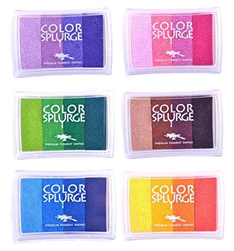 Tinte Kissen Regenbogen - 6er Set - DIY Mehrfarbig Handwerk
