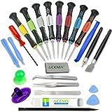 ACENIX® 24piezas Kit de reparación de herramienta de palanca de apertura y Set de destornillador para iPhone, iPad, Samsung, HTC y otros dispositivos