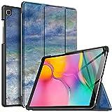 IVSO Hülle für Samsung Galaxy Tab A T515/T510 10.1 2019, Ultra Schlank Slim Schutzhülle Hochwertiges PU mit Standfunktion Ideal Geeignet für Samsung Galaxy Tab A 2019 T515/T510 10.1 Zoll, CH-33