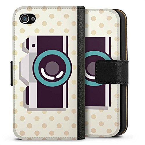 Apple iPhone X Silikon Hülle Case Schutzhülle Kamera Symbol Linse Sideflip Tasche schwarz