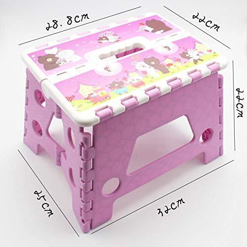 Cxefq Klapphocker, Klapphocker Für Kinder Und Erwachsene, Ca. 22 cm Hoch, Verschiedene Comic-Muster, Kompakte Hocker Zur Einfachen Aufbewahrung.@Bär -