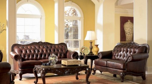 victoria-classic-button-tufted-leather-sofa-set-by-coaster-home-furnishings