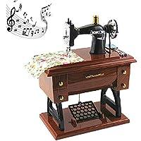 A-SZCXTOP La Mini máquina de coser CocoTop estilo de plástico caja de música de