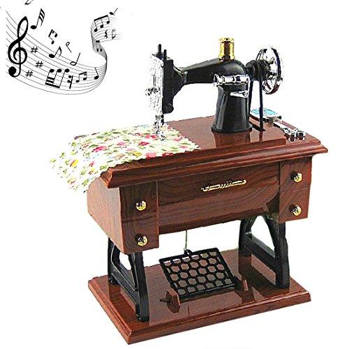 A-SZCXTOP La Mini máquina de coser CocoTop estilo de plástico caja de música de mesa decoración del hogar del regalo del juguete para los niños