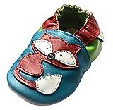 Jinwood designed by amsomo - RED FOX - soft sole - Fuchs - Hausschuhe - Lederpuschen - Krabbelschuhe, EU 22/23