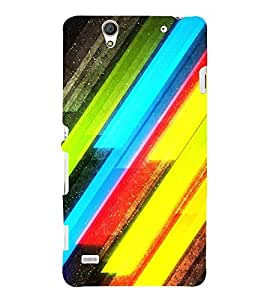 MODERN ART SLANTING LINES PATTERN IN A BLACK BACKGROUND 3D Hard Polycarbonate Designer Back Case Cover for Sony Xperia C4 Dual E5333 E5343 E5363 :: Sony Xperia C4 E5303 E5306 E5353