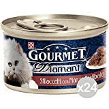 Purina Set 24 Diamant Gr 85 Gourmet Beef Chunks Food For Cats