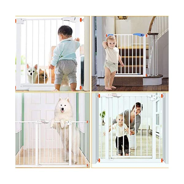 ZUZER 8pcs Pressure Baby Gates Threaded Spindle Rods M10 Walk Thru Gates Accessory Screw Bolts Safety Gate Screws for Baby and Pet Safety Gates Zuzer [High Quality] Our threaded spindle rods with steel core screw and ABS plastic, durable and reusable.Solid material that won't crack with pressure, help to make the banister gate fit snug and sturdy, so as to ensure safety of the kids or pets. [Safety and Stability] This pressure screw makes your baby door more stable and will not malfunction. A good way to protect walls or stair rails, the rubber ends protect your stairs from scratches. Can be used as an alternate wall handle for our door. (Do not use it at the top of the stairs.) [Easy to Install] It can be installed without tools. It does not damage the wall, it can be assembled quickly and easily by simply rotating the nut and creating a force that acts directly on the wall. 6