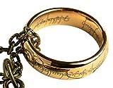 Der Herr der Ringe-Der Hobbit: Eine ring Replik vergoldet mit Geschenkbeutel und Kästchen