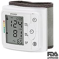 Tensiómetro de muñeca, Hylogy totalmente automático Presión Arterial y Detección de Pulso Arrítmico, Memoria (2 * 120) Certifica FDA CE (Blanco)