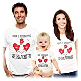Shirts Body Familien Unser erstes gemeinsames Weihnachten Papa Weiß Medium