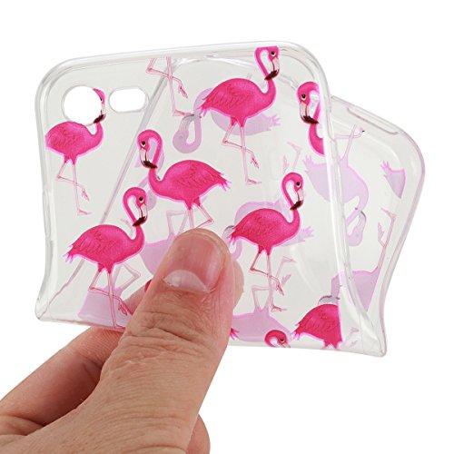 Custodia iPhone SE; Custodia iPhone 5S TPU; Cover in Silicone per iPhone 5/5S Flessibile, Trasparente e ultra sottile, astuccio cover protettivo TOYM per ragazza, presente in modelli diversi colorati  Pink Swan