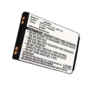 Batterie pour LG B2050 / B2100 / KG290 / KP202 / B2000 / KG110 / B2250 / KG240 (830mAh, 3.6V - 3.7V) Lithium-Ion Batterie de Cellonic