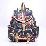 Alger Casual Fashion Shoulder Bag Student Backpacks, Blue