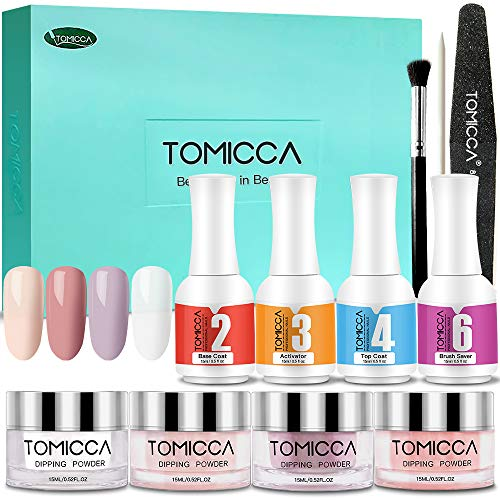 TOMICCA Dipping Powder Starter Kit Acrylpuder für Nägel | Serie Pink Serie Led-licht
