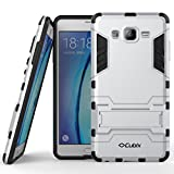 #10: Cubix Case for Samsung Galaxy On7 Kickstand Back Cover - Silver