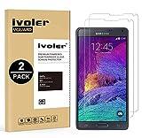 iVoler [Pack de 2] Verre Trempé Compatible avec Samsung Galaxy Note 4 [Garantie à Vie], Film Protection en Verre trempé écran Protecteur vitre (0,3mm HD Ultra Transparent)