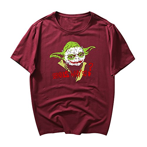 pie T-Shirt Star&War Master Yod Bekleidung Cosplay Kostüme Injustic&Leagu (Rot, XXX-Large) (Star Wars Halloween Kostüme Männer)