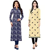 Kurti On Sale 2018 HOC Kurti Long For Women Latest Design Party Wear Kurti Latest Design Kurti Materials For Women Unstitched Kurtas For Womens Below 300 Kurta And Kurti For Women Ladies Kurta Cotton Latest Design Kurta Dresses For Women - B07DWZG55G