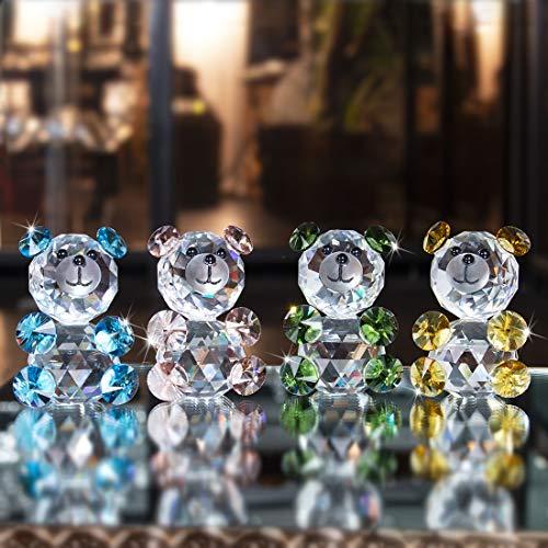 ll Baby Bär Figur Sammlung Glas Tier Briefbeschwerer Tafelaufsatz ()
