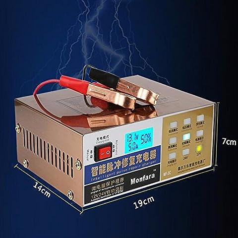 Chargeur de batterie voiture 12V 24V Chargeur intelligent pulse