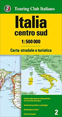 Italy Centr. + South tci (r) wp por Touring Editore