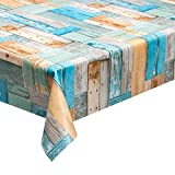 haga-wohnideen 1,4m² Wachstuchtischdecke Patchwood multi Schutzdecke PVC abwaschbar in 140cm Breite (Meterware)