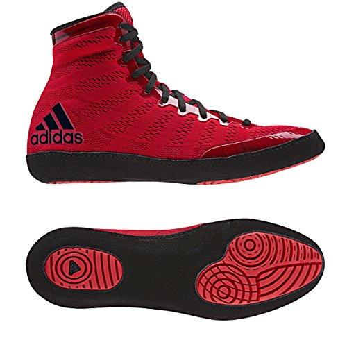 Adidas Adizero Varner Wrestling scarpe, reale / bianco / nero, 4 M Us Red,Black