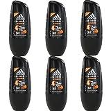 6 x 50ml Adidas INTENSIVE Roll On Deo Deodorant Rollon