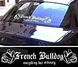 FRENCH BULLDOG XXL Aufkleber - Französische Bulldogge - schwarz oder weiß NEU (weiß außenklebend)