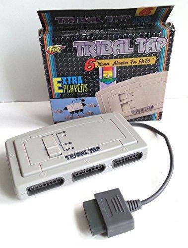 SNES Original Fire Tribal Tap Multitap Multi Tap 6-fach Adapter Verteiler für SNES Super Nintendo Controller