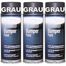 Bote de Spray de 3Bumper barniz gris especial para plástico Parachoques