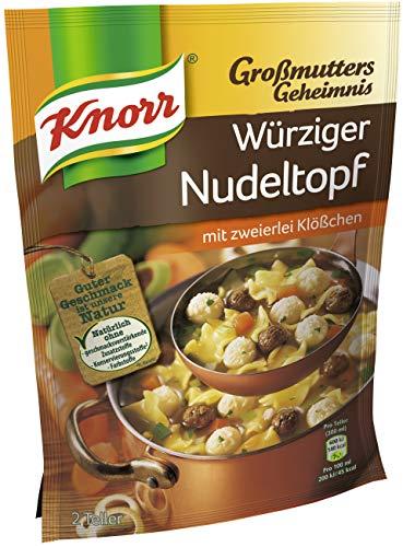 Knorr Eintopf Großmutters Geheimnis Würziger Nudeltopf (9 x 2 Teller) - Gesunde Hühner-reis-suppe