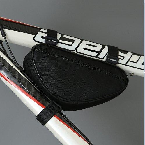 LWJgsa Fahrrad Dreieck Tasche Traverse Röhre Wickeln Berg Tasche Black