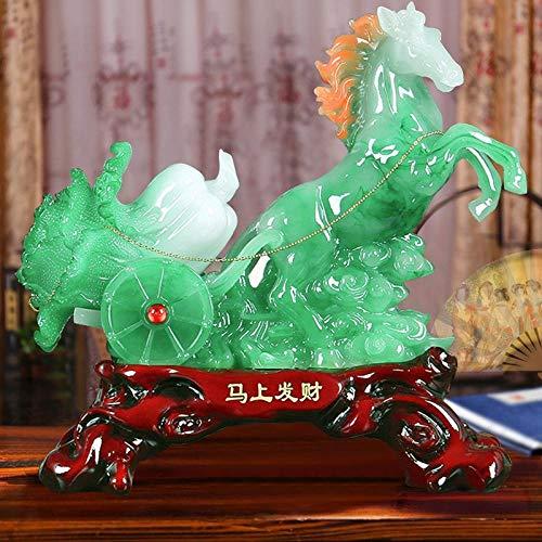 nzimmer Pferd Handwerk Jade Kohl Pferd zum Erfolg Neue chinesische Ornamente Eröffnung Geschenk Geschäft Einweihungsparty Büro Weinschrank glückliches Geschäft senden le ()